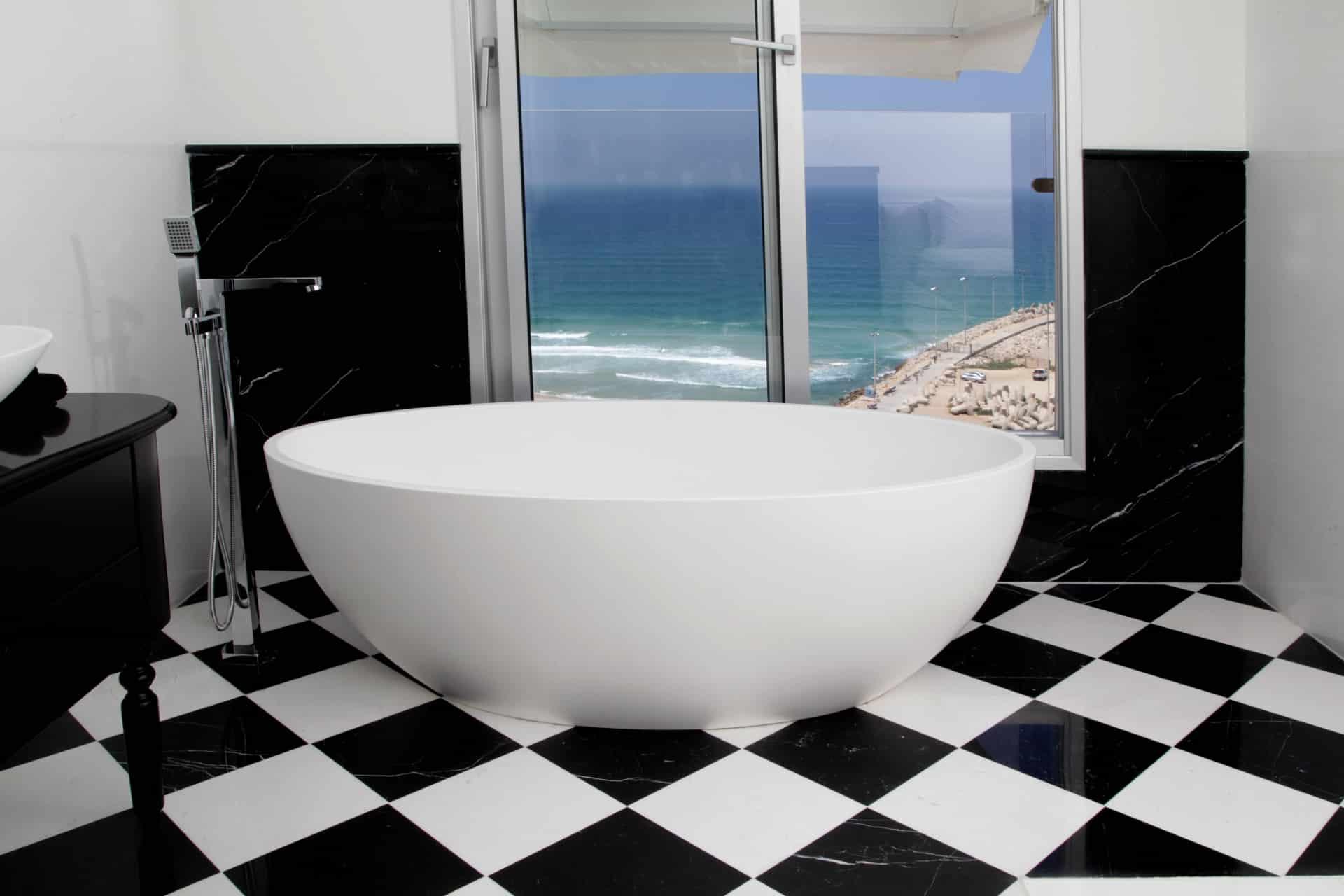 ריצוף שיש דמקה לחדרי אמבטיה מעוצבים